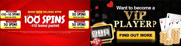 Slots Devil Casino welcome bonus