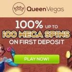 Queen Vegas Casino - €100 gratis bonus and 100 free spins