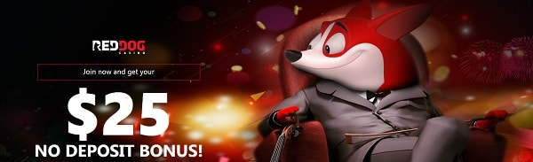 Red Dog Casino $25 bonus without deposit