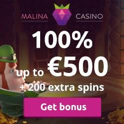 Malina Casino [register & login] 200 free spins and €500 bonus
