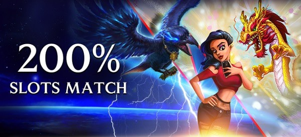 200% bonus on slot games