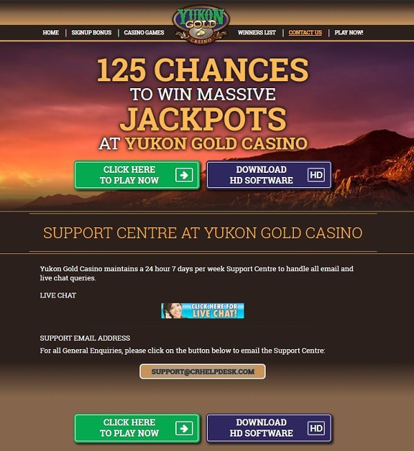 Play Yukon Online Gold Casino