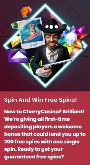 Play 200 Free Spins in CherryCasino!