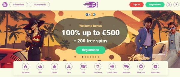 100% welcome bonus and 200 gratis spins
