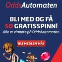 OddsAutomaten 150 free spins og opptil 10,000 kr gratis i kasinobonus