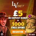 LVBet Casino Review: €5 no deposit bonus and 1000 free spins gratis
