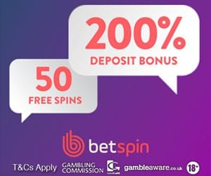Betspin Casino 100 free spins and 200% bonus on slots & live dealer