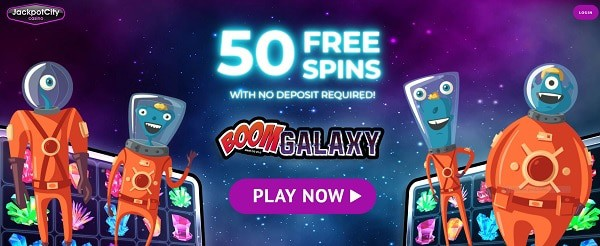 JackpotCity Casino 50 free spins no deposit required