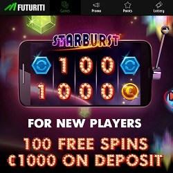 Futuriti Casino | 200% bonus + €1000 gratis + 100 free spins