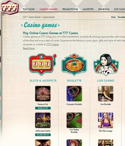 777 Casino free bonus spins