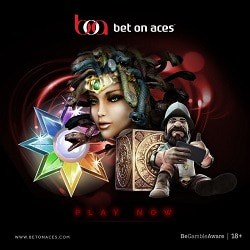Bet On Aces £350 VIP free play bonus on casino and sportsbook