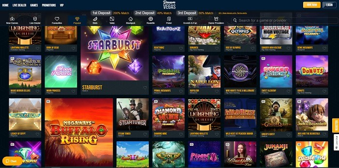 Dream Vegas Casino all best games and software