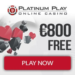Platinum Play Casino €800 deposit bonus and 100 free spins promo