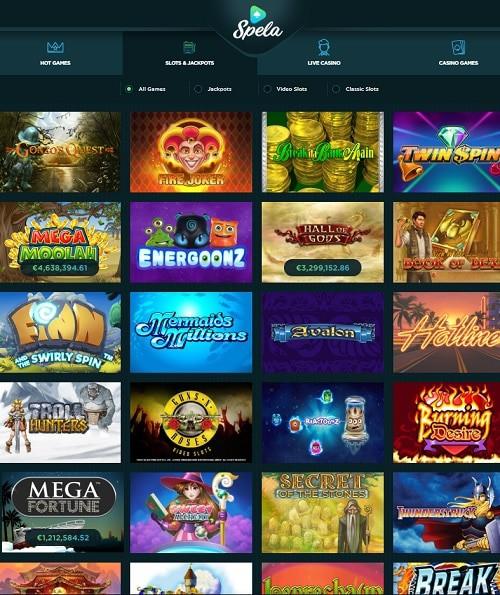Spela Casino gratis spins