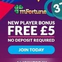 mFortune Casino £5 free cash bonus after mobile verification