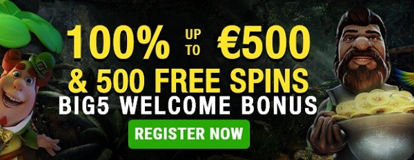 Big5Casino.com free spins bonus