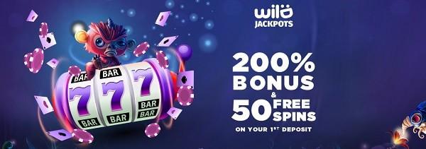 Wild Jackpots Casino 200% bonus and 30 gratis spins