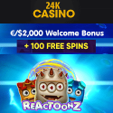 24K CASINO - free spins, bitcoin bonus, free play games