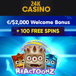 Exclusive promo to 24KCasino Online & Mobile!
