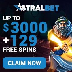AstralBet Casino $/€3000 bonus + 129 free spins (Exclusive!)