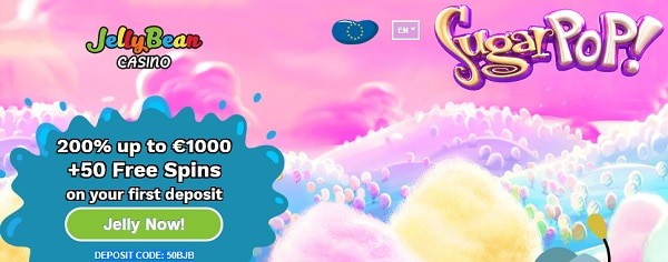 Jelly Bean Casino welcome bonus and free spins
