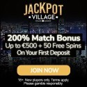 JACKPOT VILLAGE 100 free spins + 275% up to €1800 bonus