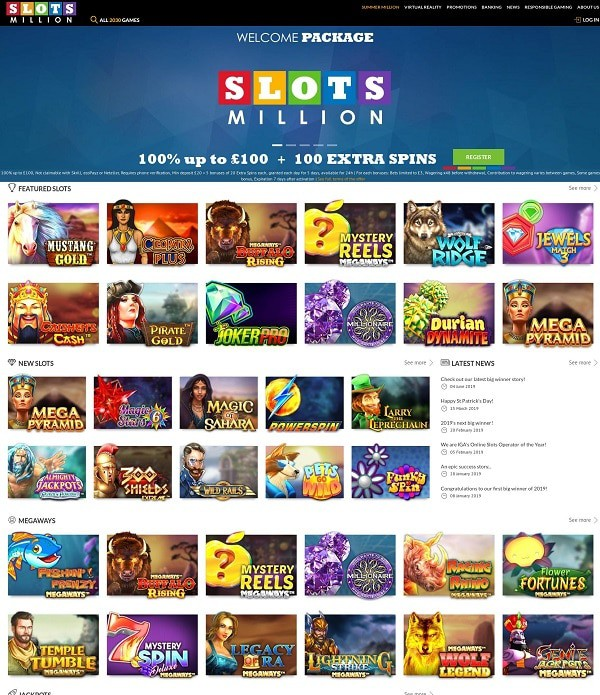 SlotsMillion Online Casino Overview