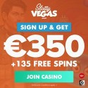 Slotty Vegas Casino €350 bonus + 135 free spins on Book of Dead