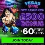Vegas Spins Casino | 60 free spins & £500 bonus | review