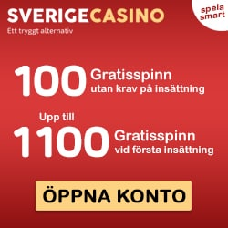 SverigeCasino   1200 free spins and no deposit bonus   review