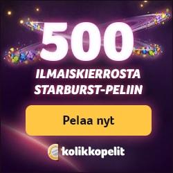 Kolikkopelit Casino - 50 free spins no deposit bonus for Finland