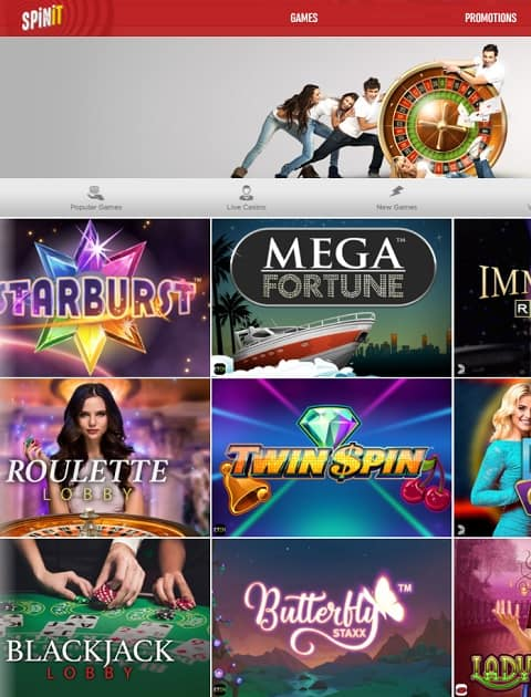 SpinIt Casino 200 free spins