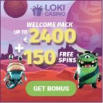 Loki Casino €2400 or 5 BTC free bonus and 150 free spins