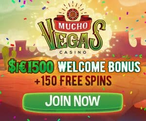 Mucho Vegas - 150 free spins and €1500 bonus for casino games