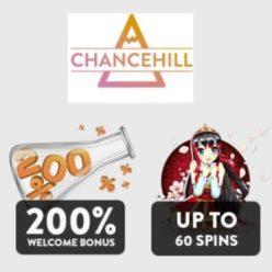 Chance Hill Casino 60 free spins and 200% up to €100 free bonus