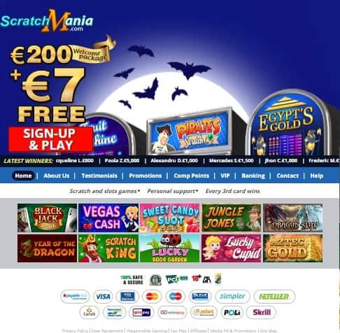Scratch Mania Casino - free spins and gratis bonus