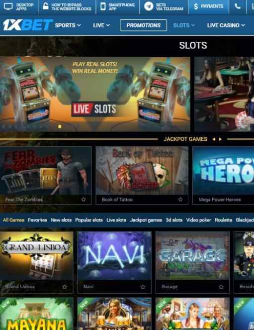 1XBET Casino free bonus and free spins - no deposit required