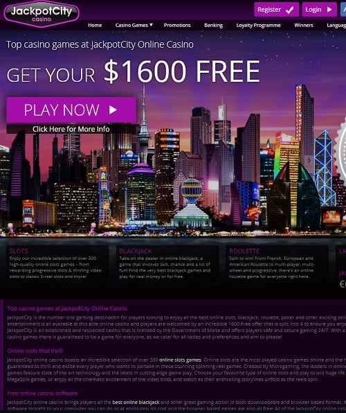 Jackpot City Casino free spins bonus on Microgaming slot machines