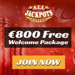 All Jackpots Casino - €1600 free spins bonus on Mega Moolah jackpot