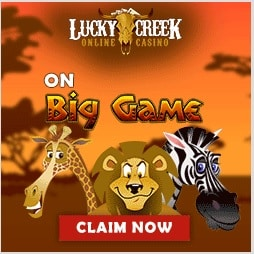 Lucky Creek Casino $20 FREE no deposit bonus code - US, CA, EU, AU