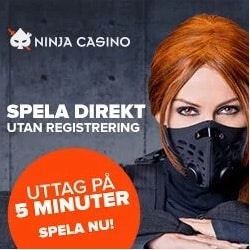 Ninja Casino 500 free spins (ilmaiskierrosta) bonus for Sweden/Finland