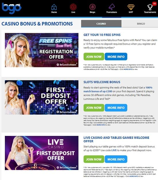 Bgo Casino free play