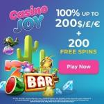 Casino Joy [register & login] 200 free spins and €/$/£1000 bonus