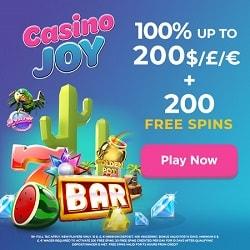 Casino Joy [register & login] 200 free spins and €/$/£1000 bonus