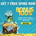 Lucky Dino Casino 107 free spins & 400 EUR welcome bonus