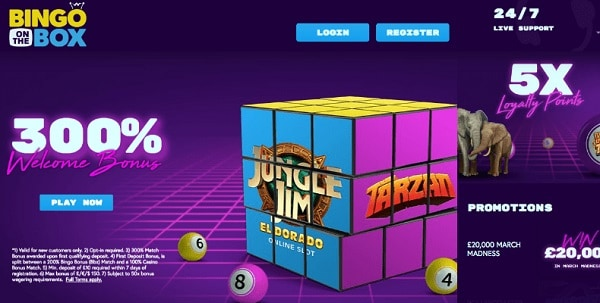 Bingo On The Box Casino 300% free bonus & gratis spins