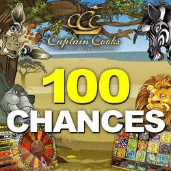 How to get 100 free spins on Mega Moolah at Captain Cooks Casino?