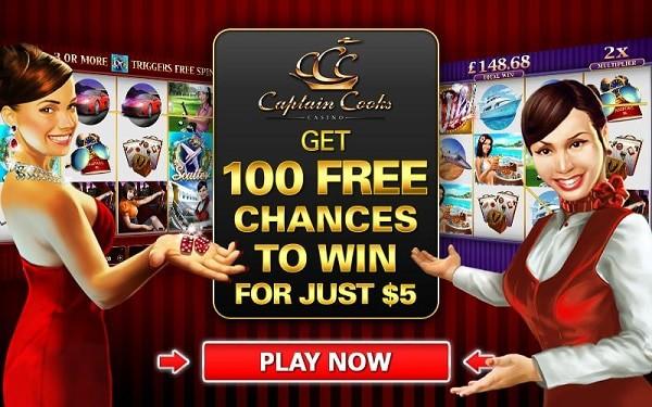 Captain Cooks Casino 100 free rounds