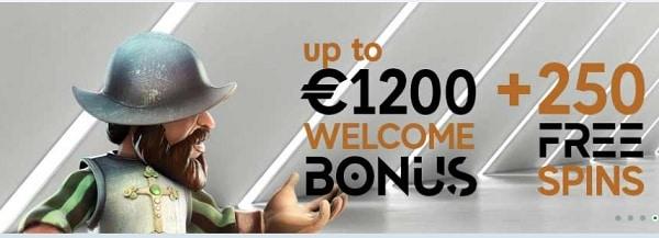 GoPro Casino 250 free spins on slots