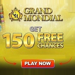 How to claim 150 free spins on Mega Moolah at Grand Mondial Casino?
